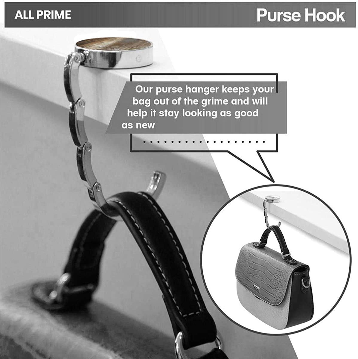 SDxingyuan Cute Foldable Purse Hanger For Table,Personalized Purse Hook For Car Brown Black Slender Neutral Abstract Beige