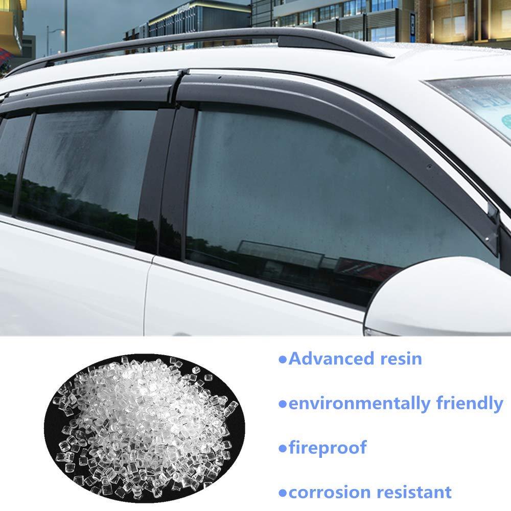 TUTU-C 4 St/ück f/ür Nissan Qashqai 2008 2009 2010 2011 2012 2013 2014 2015 ABS-Kunststoff Fenster Visiere Sonnenschutz Abweiser Schutz Auto Styling