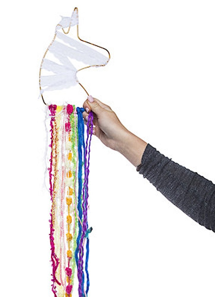Make your own Unicorn Dream catcher fun DIY kit 1 8 inch metal unicorn ring,beads and various trims