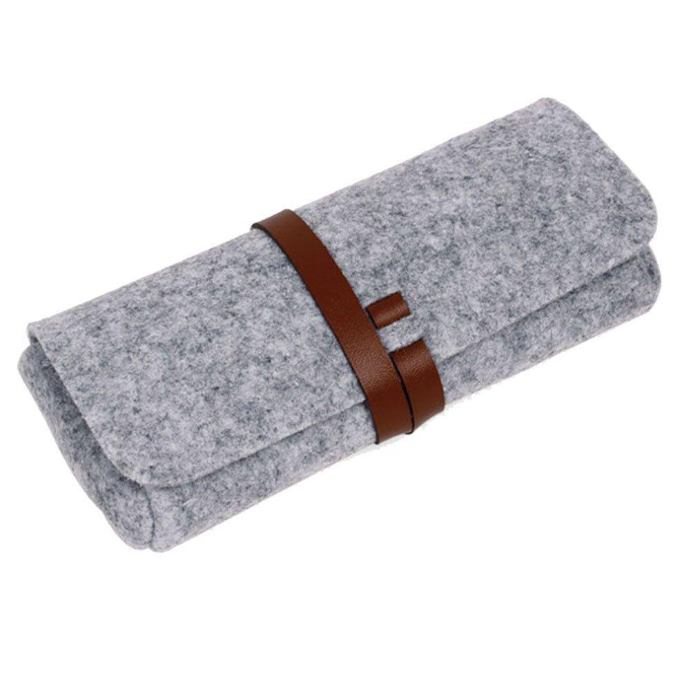 EQLEF® Gafas de sol con la caja de los vidrios de cuero artificial atado con correa Cinturones Strip...