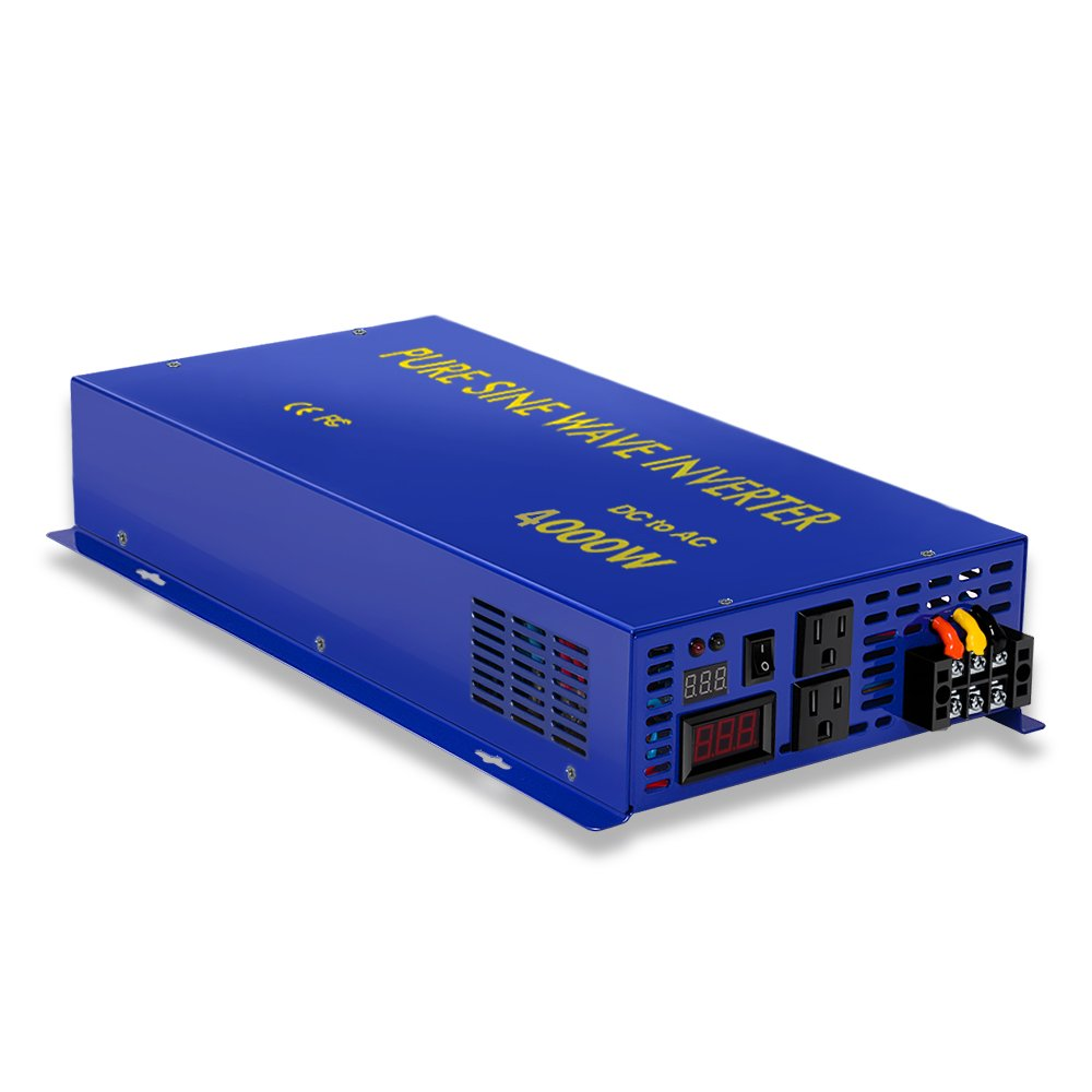 4000w 24v to 120v Pure Sine Wave Solar System Home Power Inverter Converter Generator