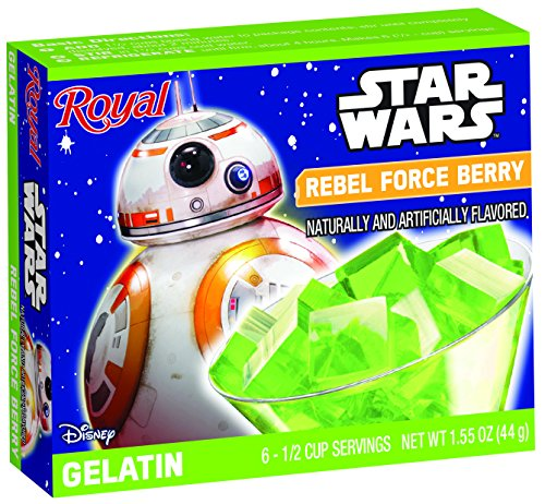 Royal Star Wars Gelatin, Rebel Force Berry, 1.55 Ounce (Pack of 12)