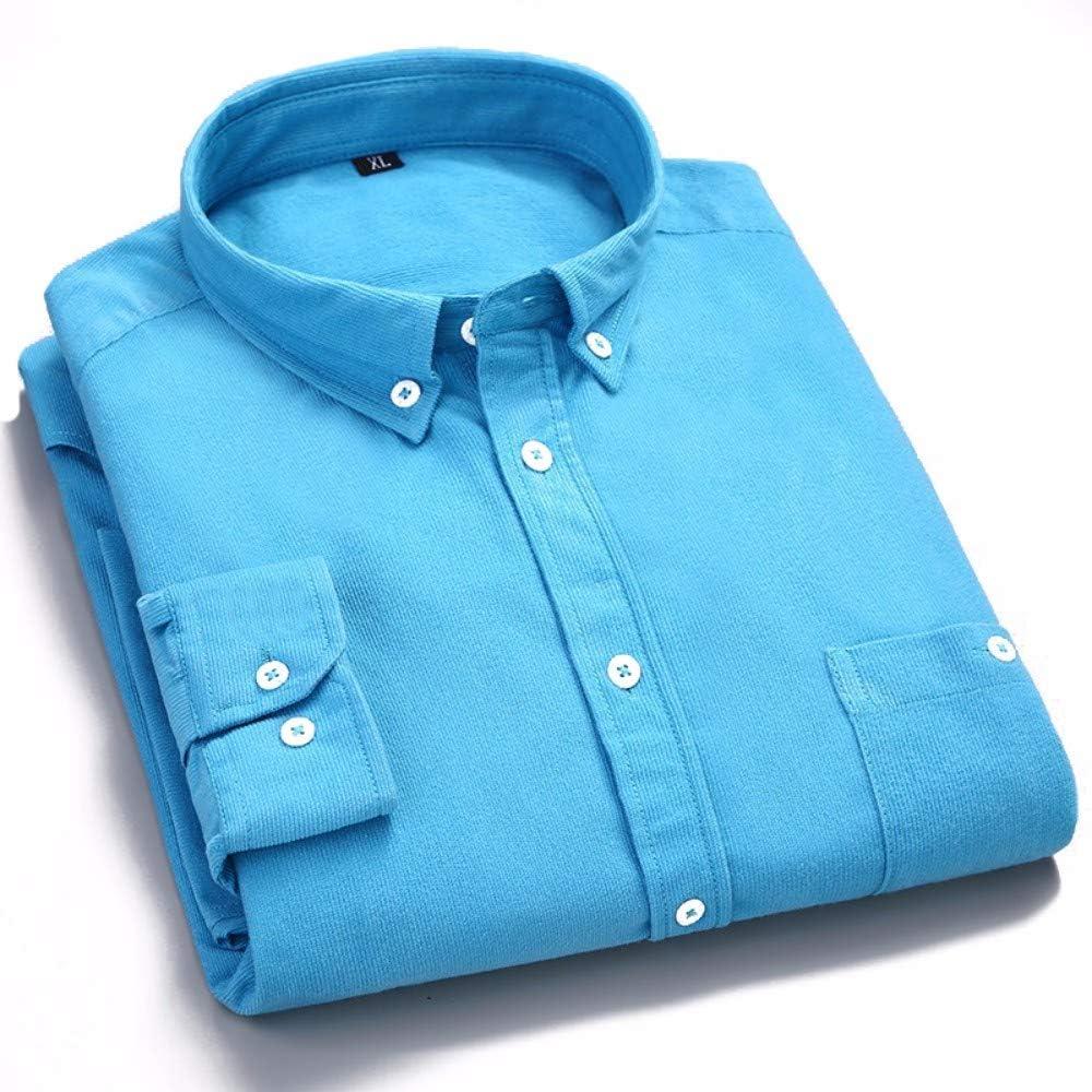 Camisa De Pana Retro Camisa De Terciopelo De Manga Larga Niños Japoneses Ocio Estilo Primavera Color Brillante Pulgada Azul Pavo Real 38 / M Camisas: Amazon.es: Ropa y accesorios