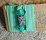 Seafoam Silk Dragonfly Wrap Bracelet. Free Spirit Bracelet. Dragonfly Bracelet. Wrap Bracelet. #HoneyBeMe