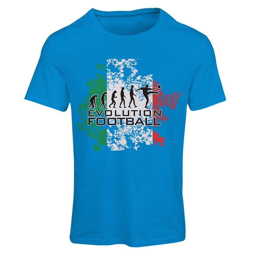 lepni.me Camiseta mujer Evolución del fútbol - Italia, Rusia Campeonato 2018, Copa del mundo, equipo de fútbol italiano: Amazon.es: Ropa y accesorios