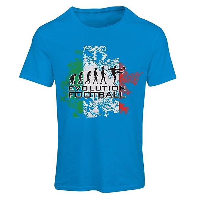 lepni.me Camiseta Mujer Evolución del fútbol - Italia, Rusia Campeonato 2018, Copa
