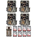 Browning Trail Cameras Four Dark Ops Extreme 16MP Game Cameras with Eight 16GB Cards and Focus USB Card Reader