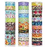 Office Products : DECORA 32 Pieces Decorative Washi Masking Tape Set DIY Arts & Crafts Tape and Gift Wrapping