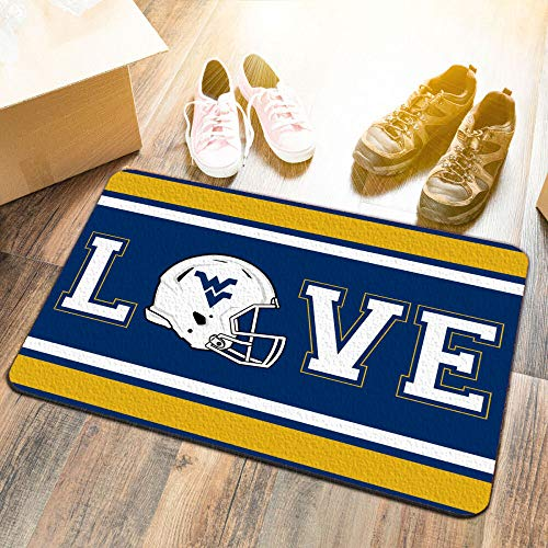 (College Flags and Banners Co. West Virginia University Mountaineers Love Utility Man Cave Door Mat)