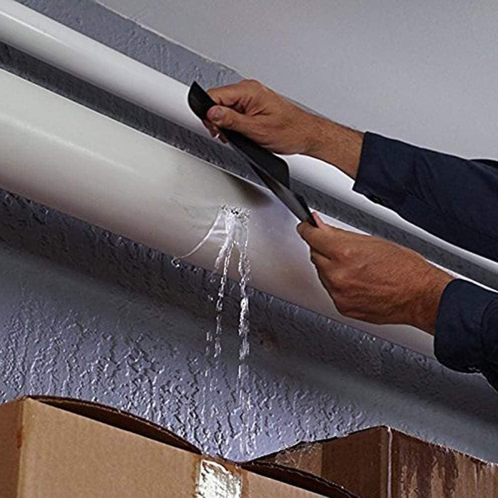 Joint d/étanch/éit/é et R/éparation de PVC Ruban de Fixation pour la Tuyauterie durgence et les Fuites de Tuyaux deau Ruban /Étanche Ruban Auto-adh/és 2 Volumes Ruban Adh/ésif R/ésistant /à leau