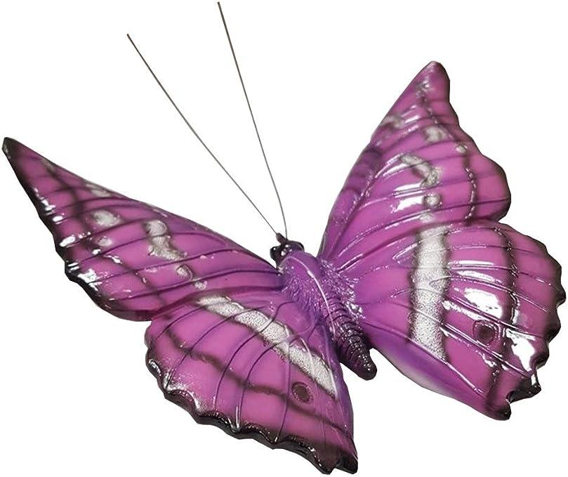 Vivid Arts Garden Friends – Violet Papillon Ornement de Jardin/Décoration (BG-nbut-f): Amazon.es: Jardín