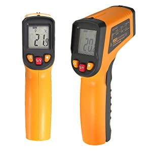 SOLOOP Infrared Thermometer Temperature Gun -50 ~ 400¡C Handheld Digital Non-Contact IR Thermometer, Laser Sight, LCD Display, Auto Power Off, Temperature Data Hold Function