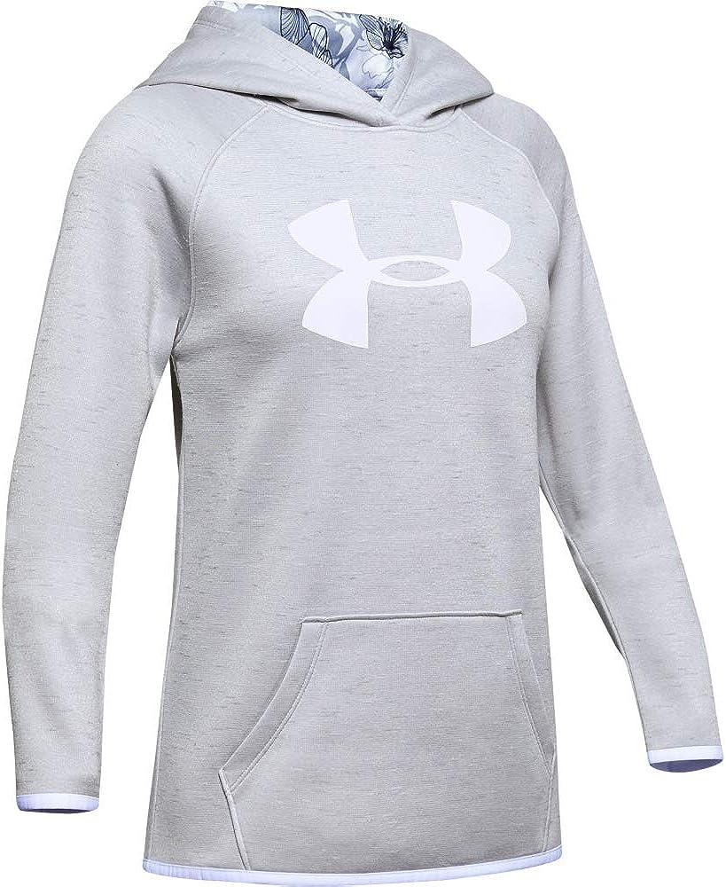 Under Armour Girls Fleece Big Logo Twist Hoodie