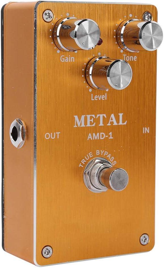 Compresor de pedal de efecto de guitarra, Efecto de guitarra, Carcasa de metal completo Simulador portátil Pedal de efecto Distorsión Efecto de guitarra para guitarrista principiante