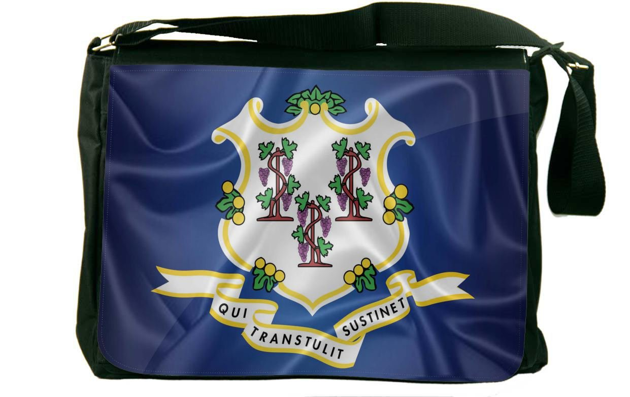 Rikki Knight Connecticut State Flag Messenger Bag School Bag