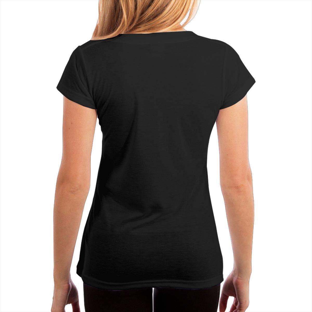 KshsDigu Match Box Twenty Womens V Neck Short Sleeve Tee Tops Cotton T-Shirts Black