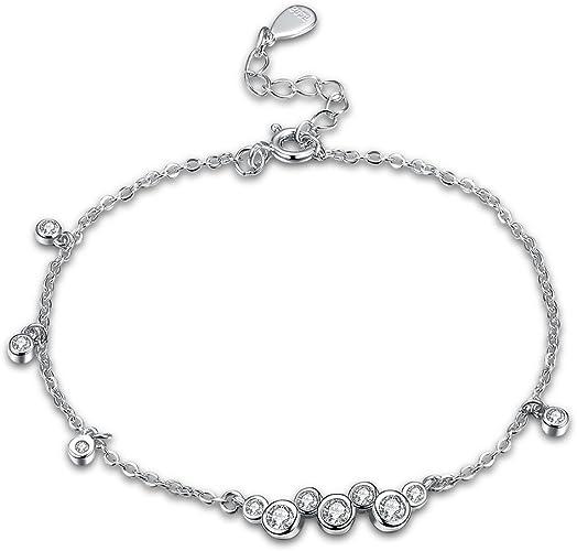 Encanto del corazón Link pulsera de plata esterlina 925 Mujeres Damas Joyería Regalos