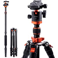 """Camera Tripod, K&F Concept 67"""" Aluminum Tripod Monopod with 360 Degree Ball Head, 1/4"""" Quick Release Plate and Carrying…"""