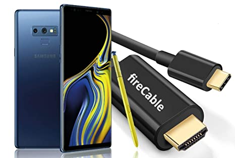 fireCable Galaxy Note 9 XL USB C to HDMI Male Cable (Cord Connects Your  Note9 to Monitor/TV - Activates Full DeX Mode Desktop Experience)