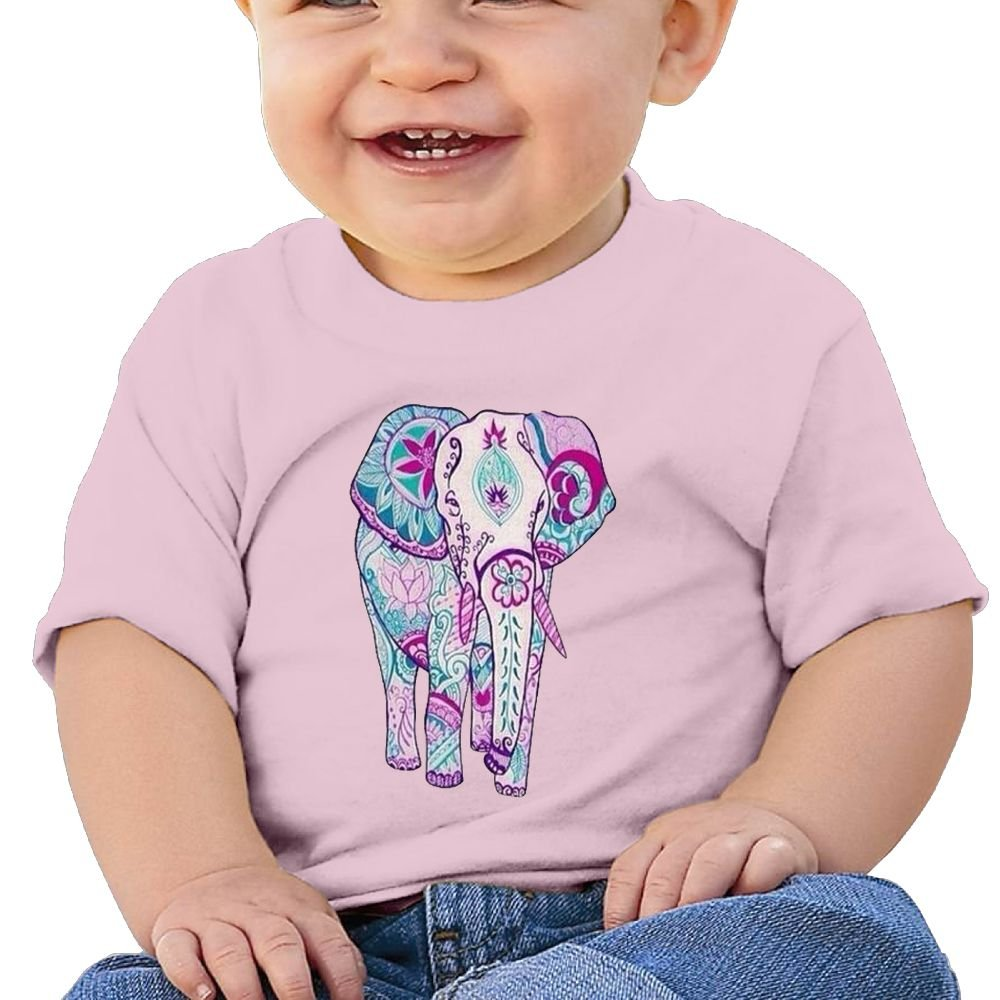 FFWWLHR Indian Elephants Baby Undershirts Unisex Graphic Merry Christmas Cotton Baby Toddler T Shirt Tops