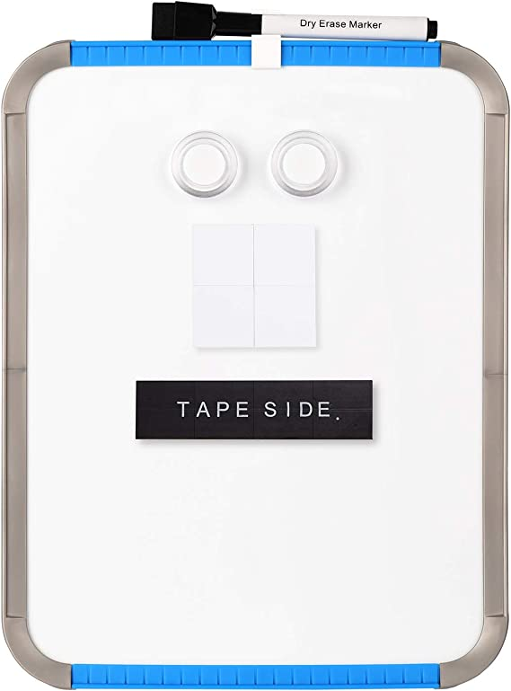Peachlulu Magnetic Dry Erase Board 8.5 x 11 Inches with Stand 6 Markers and 2 Magnets