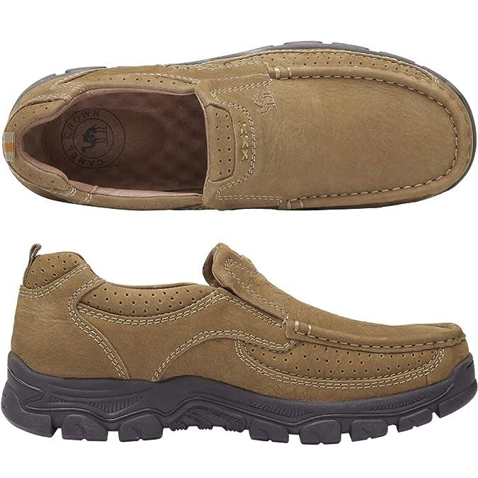 Camel Mocasines para Hombre Casual Zapatos de Negocios Oxford Zapatos sin Cordones Hombre: Amazon.es: Zapatos y complementos