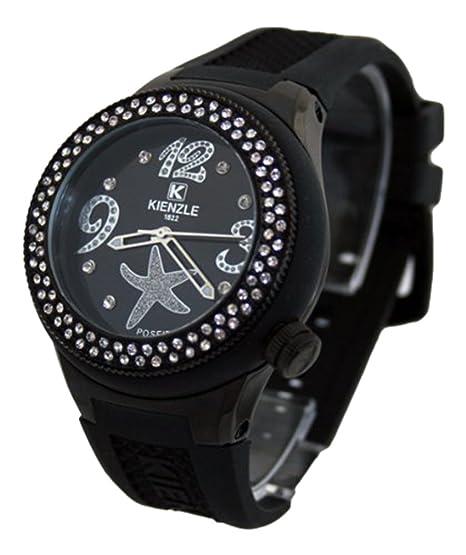 Waooh - Reloj Kienzle 720 3060 para mujer - pulsera de silicón Negro