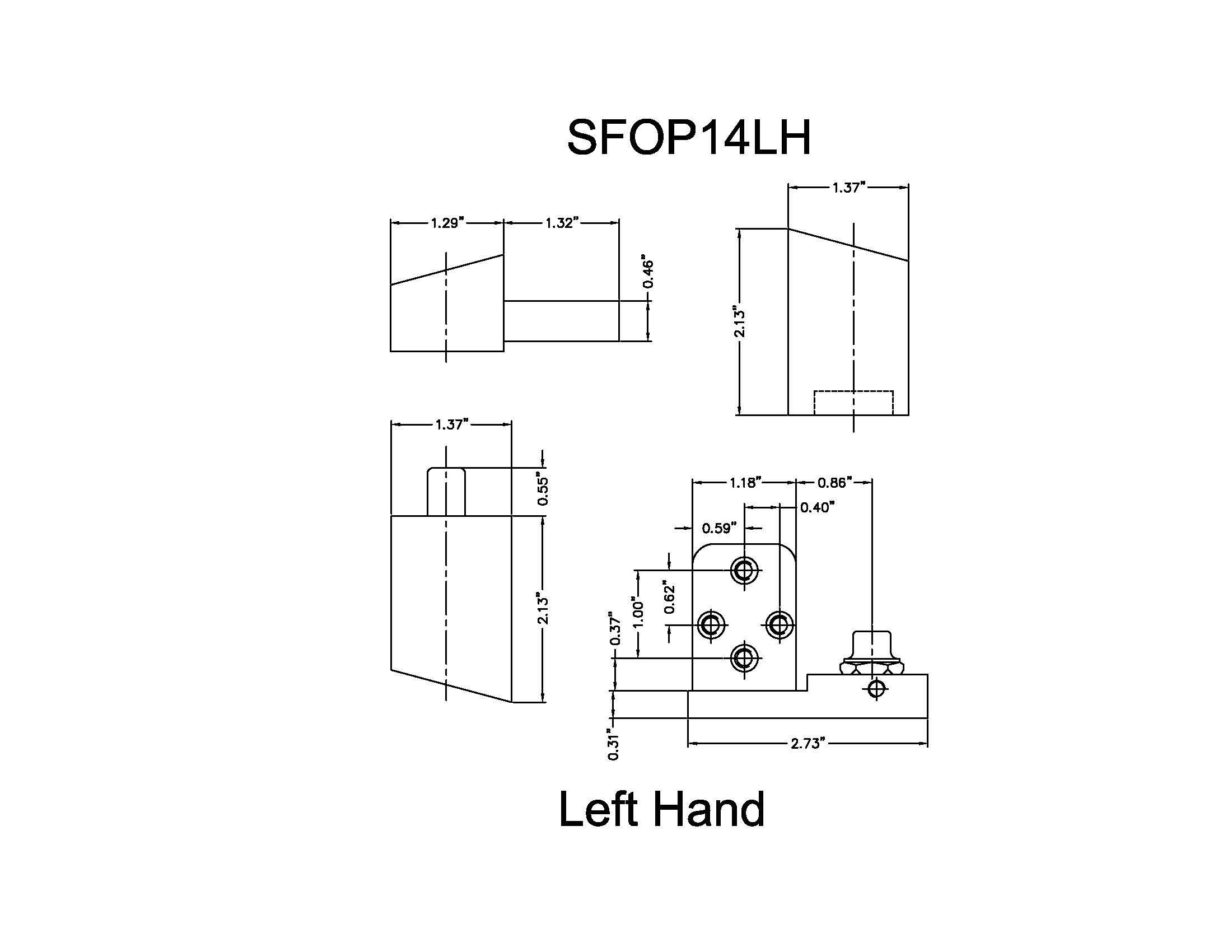 Offset Pivot Left Hand in Aluminum Finish, Durable commercial & residential, door hardware, door handles, locks