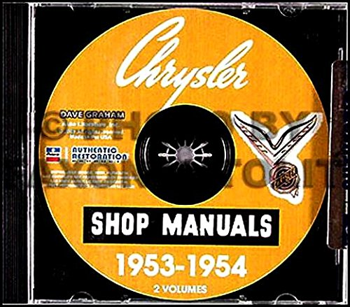 STEP-BY-STEP 1953 1954 CHRYSLER & IMPERIAL CARS REPAIR SHOP & SERVICE MANUAL & BODY MANUAL CD INCLUDES: Windsor, New Yorker, Deluuxe, Custom Imperial, Crown Imperial - C60 Car