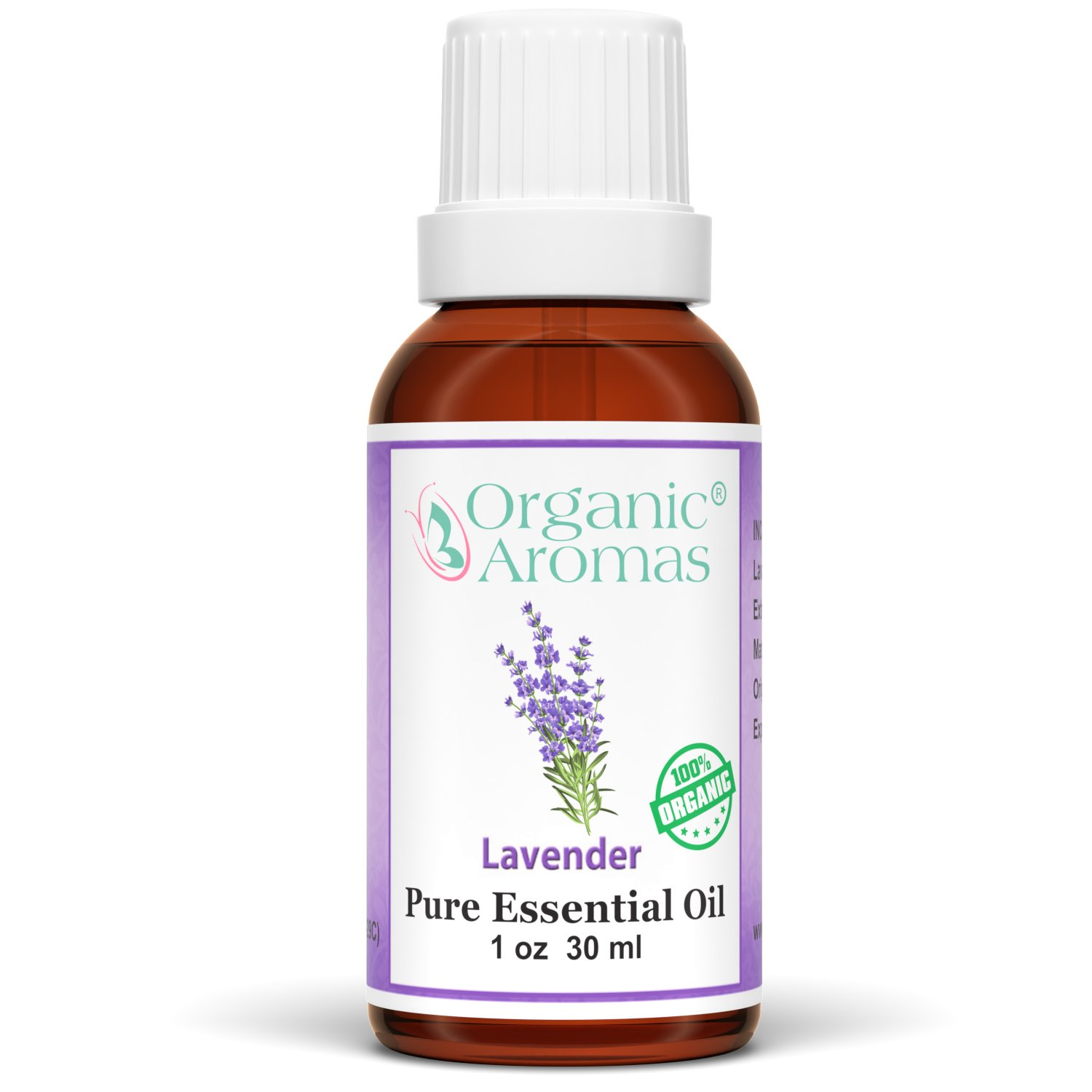 Lavender Essential Oil 100% Pure (Certified Organic) for Professional Aromatherapy - Therapeutic Grade Works well with Organic Aroma Diffusers - 30 ml bottle