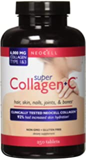 NeoCell Super Collagen and Vitamin C 6,000milligram Collagen Types 1 and 3 Plus Vitamin C