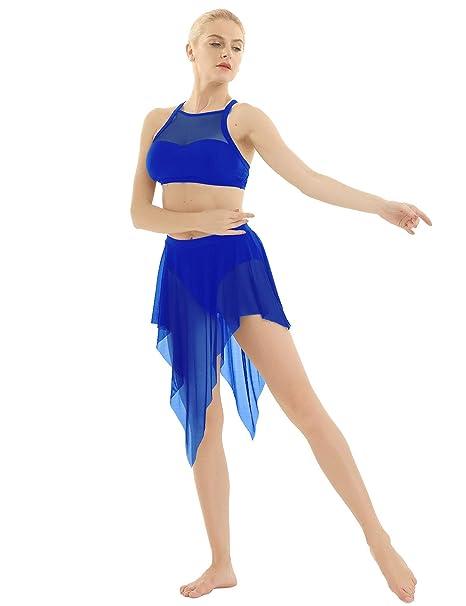 inhzoy Vestido de Danza Lírica Contemporánea para Mujer ...