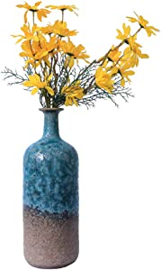 Creative Vintage Ceramic Vase, Artistic Home Decor Craft, Bubble Glaze Flower Vase, Irregular Flower Pot for Sitting Room Porch TV Stand Office Hotel (No. 05)