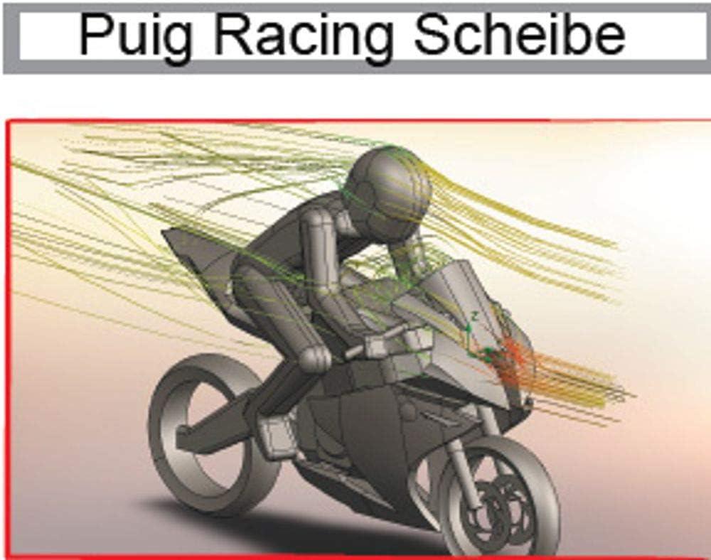Puig Racing Scheibe Yamaha Yzf R125 2008 Schwarz Getönt 90 Verkleidungsscheibe Auto