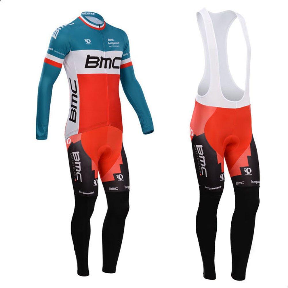 Strgao 2016メンズPro Team MTBバイク自転車冬熱サイクリング長袖ジャージーand Bibパンツタイツセットスーツ B019LR4UXA 2X-Large|C C 2X-Large