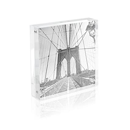 Amazon Com Isaac Jacobs Super Thick Acrylic Magnetic Block Frame