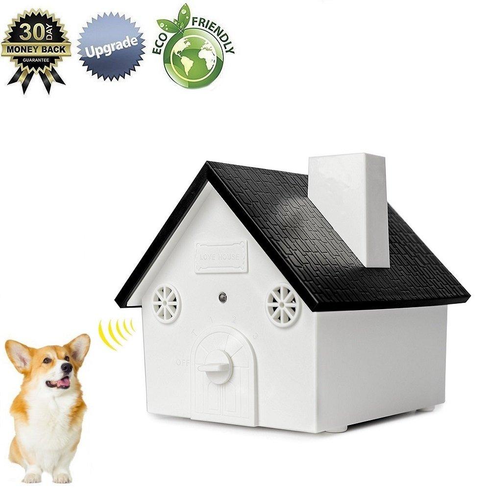 Super 2018 VERSION Bark Control Outdoor Ultrasonic Bark Deterrent Training Barking Behavior Safe for All Size Dogs Effective Range 50 Feet (Black)
