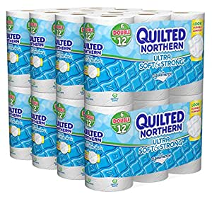 Quilted Northern Ultra Soft & Strong Double Roll Toilet Tissue-White-48 ct