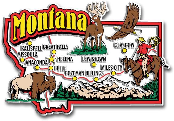 Montana State Jumbo Map Magnet