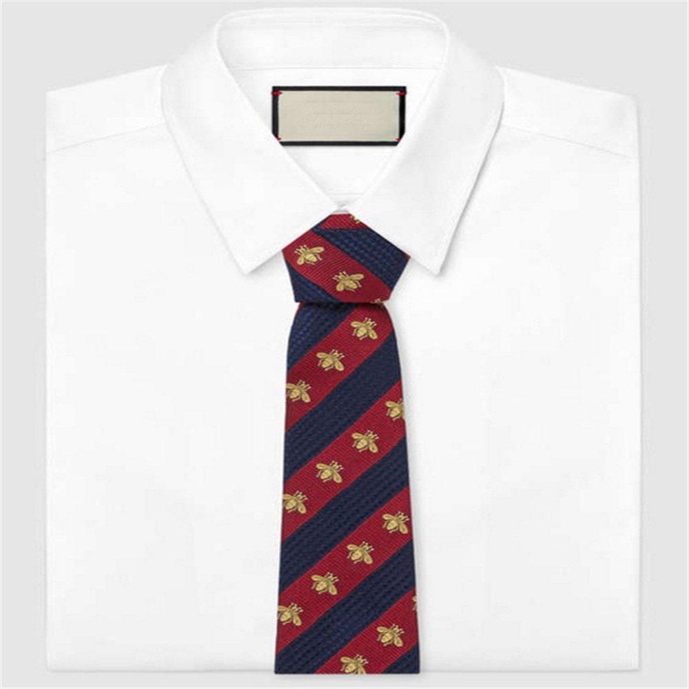 Y-WEIFENG Corbata para Hombre Corbata roja y Azul de Ancho Diseño ...