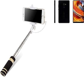 K-S-Trade Selfie Stick palillo Compatible con Xiaomi Mi Mix 2 ...