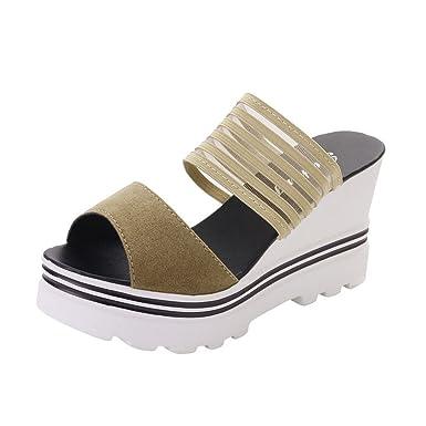 Dodumi Femme Sandales sandales Ete Plates Noires Talons DH9EIWY2