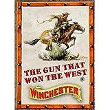Rockin W Gun That Won The West Tin Sign