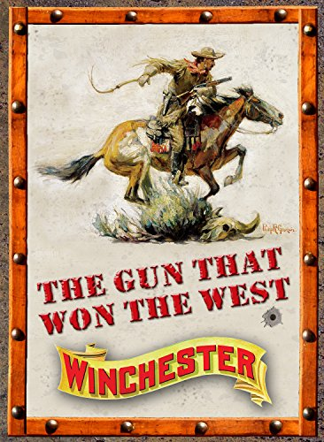 Rockin W Gun That Won The West Tin Sign