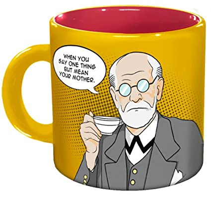 3aa84bff9aa Amazon.com  Freudian Sips Coffee Mug - Undo Years Of Repression While You  Drink Your Coffee - Comes in a Fun Gift Box  Kitchen   Dining