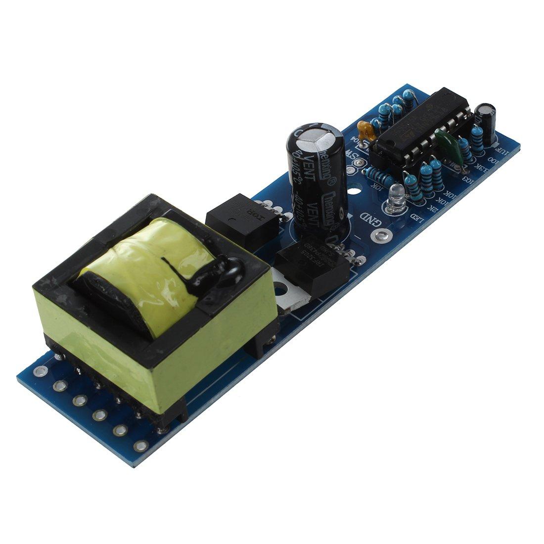 220V Modulo de Convertidor de Silicona Unica de Boost TOOGOO Mini Inversor de Tira DC 12V a CA 110V