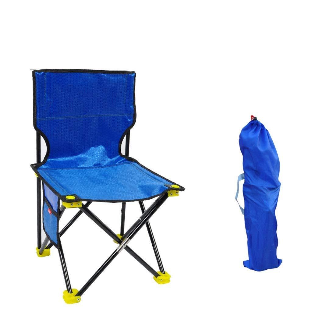Tao-Miy Faltbarer Camp Chair - Leichter und robuster Außensitz - Perfekt für Camping, Festivals, Garten, Caravan Trips, Angeln, Strand, BBQs (Farbe   Blau)