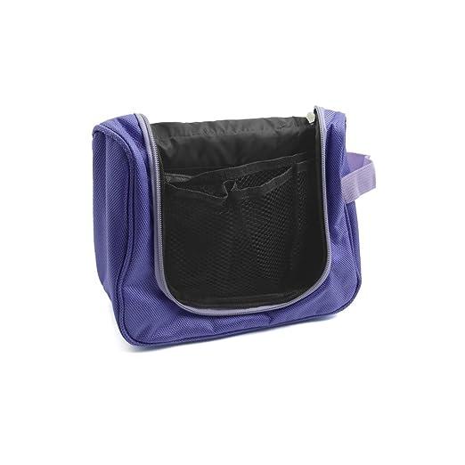 Amazon.com: Colgando Resistente eDealMax de agua púrpura de la cremallera Cosmética Wash Neceser Bolsa de almacenamiento w Gancho: Health & Personal Care