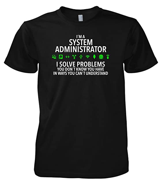 Geek System Administrator 702285 T-Shirt 001 S