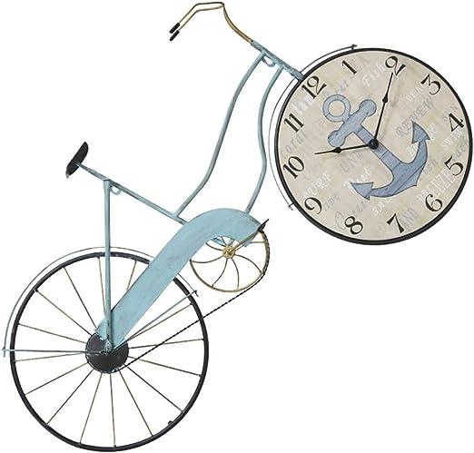 Reloj de Pared Bicicleta Creativa Arte en Hierro Reloj silencioso Salón Café Decoración de Pared Reloj 丨 sin Segunda Mano Second Estilo Industrial N Números árabes: Amazon.es: Hogar